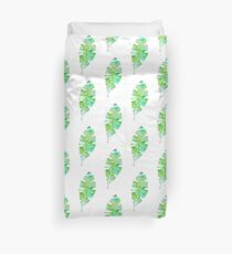 tropical green watercolor (2) Duvet Cover