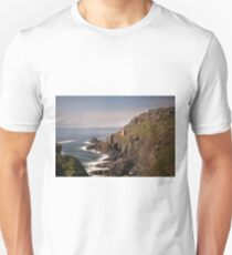 Long exposure of the crown engine houses , Botallack mines Cornwall Unisex T-Shirt