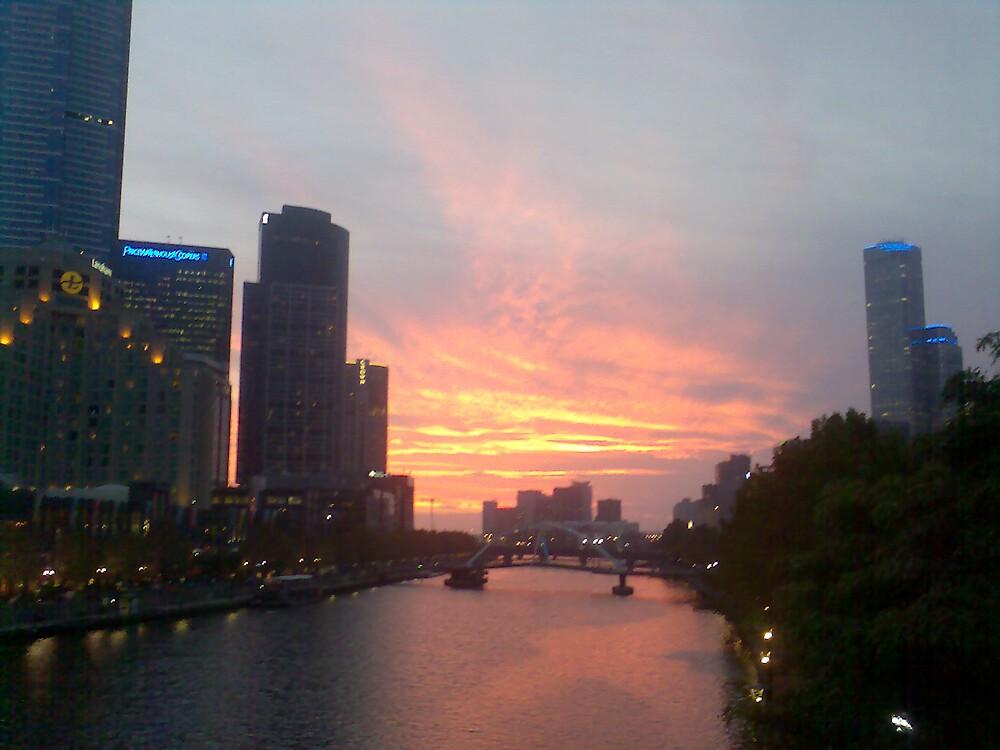 Sunset Over Yarra by Martin Anski