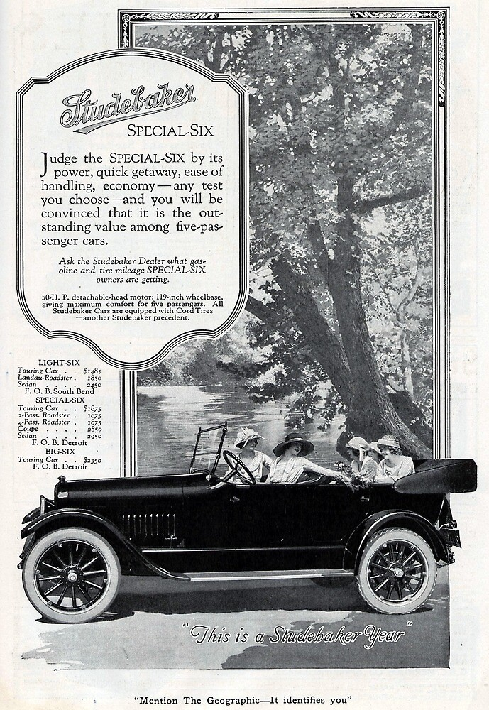 Vintage Studebaker Special Six Advertisement by pdgraphics