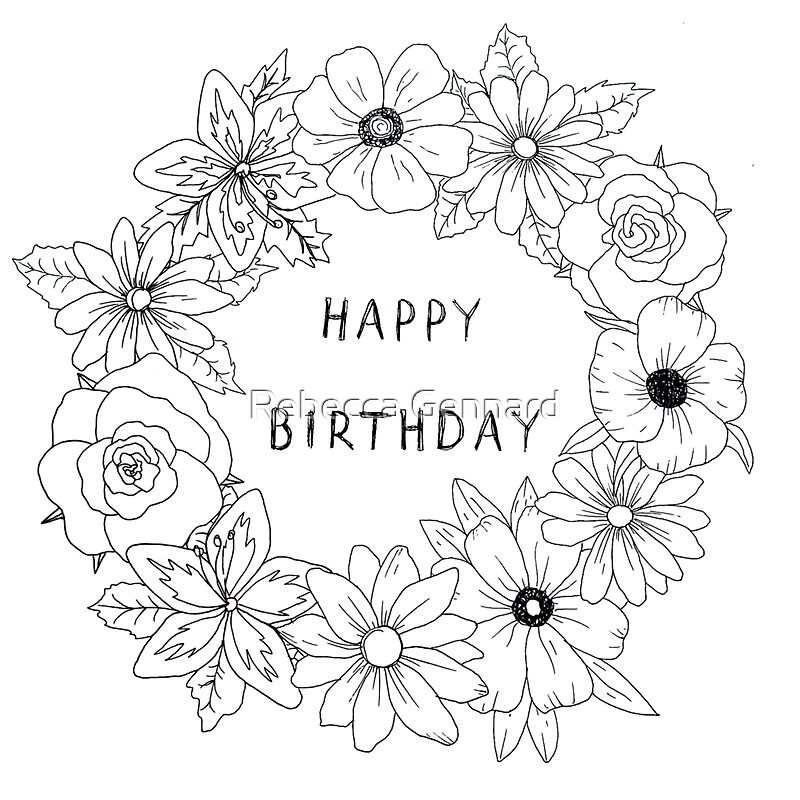 Colour yourself happy birthday card stickers by rebecca gennard colour yourself happy birthday card by rebecca gennard bookmarktalkfo Image collections