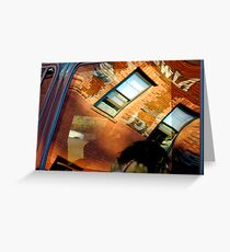 Reflections In Metal and Glass Greeting Card