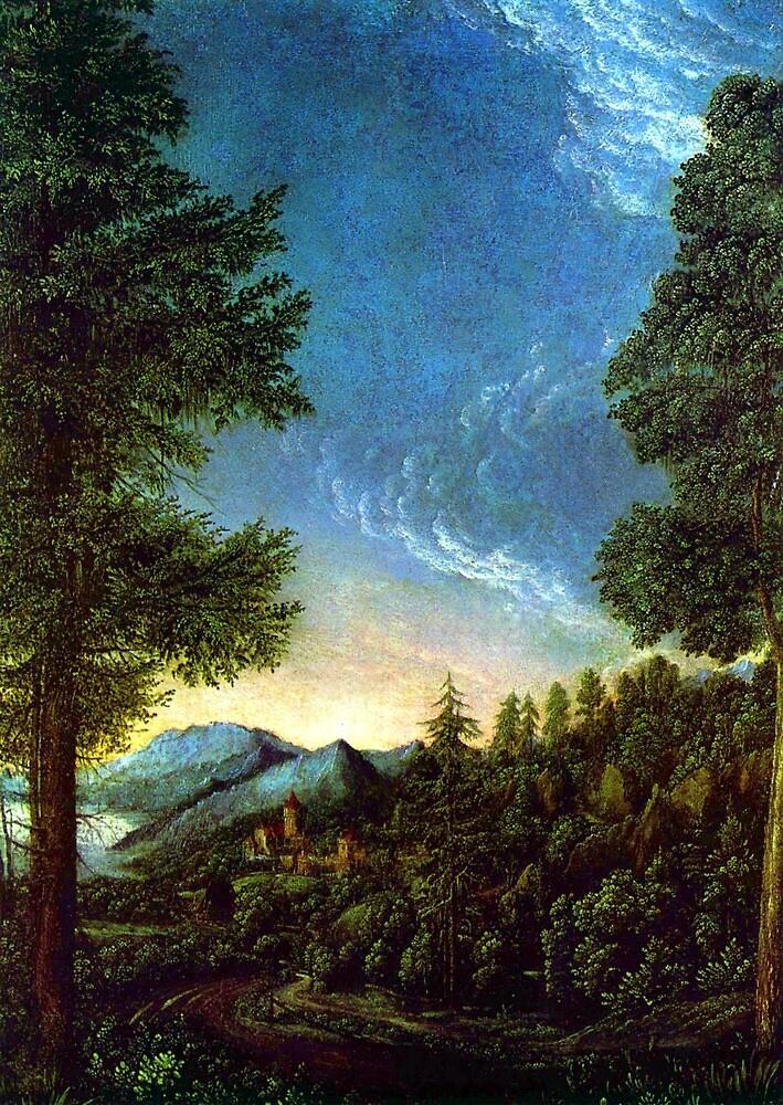 Albrecht Altdorfer Danube landscape near Regensburg by pdgraphics
