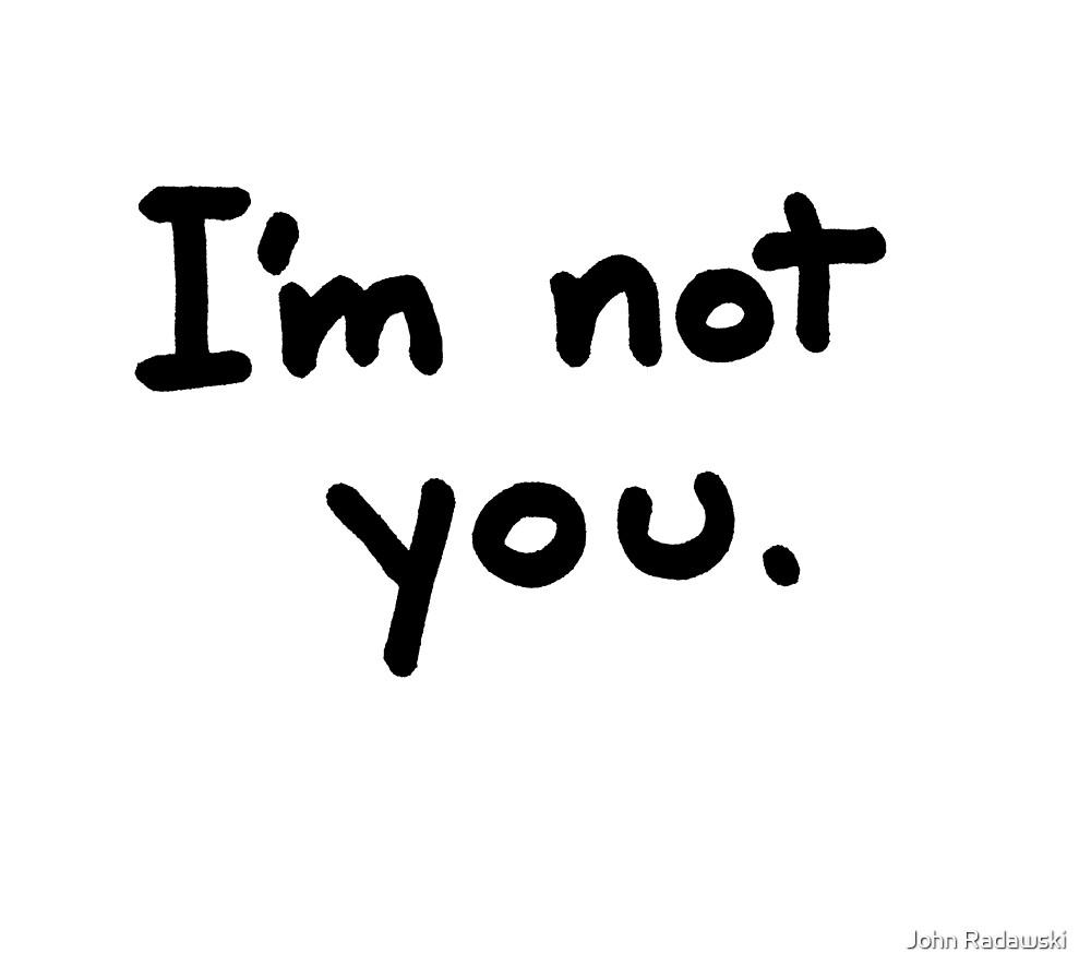 I'm Not You by John Radawski