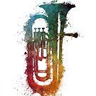 euphonium music art by JBJart