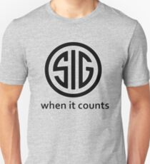 SIG Sauer Firearms Logo When it counts T-Shirt