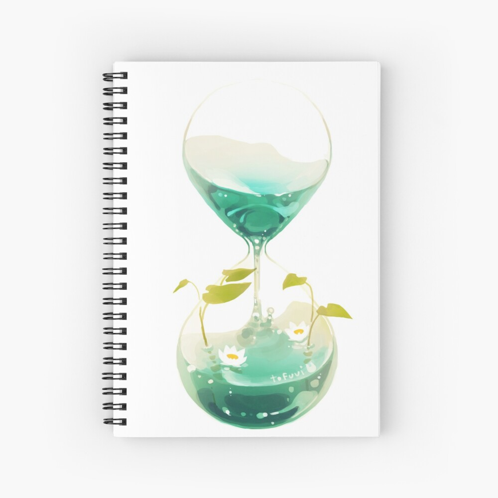 flow of time. Spiral Notebook