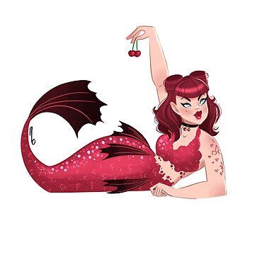Cherry Mermaid by mustashleigh