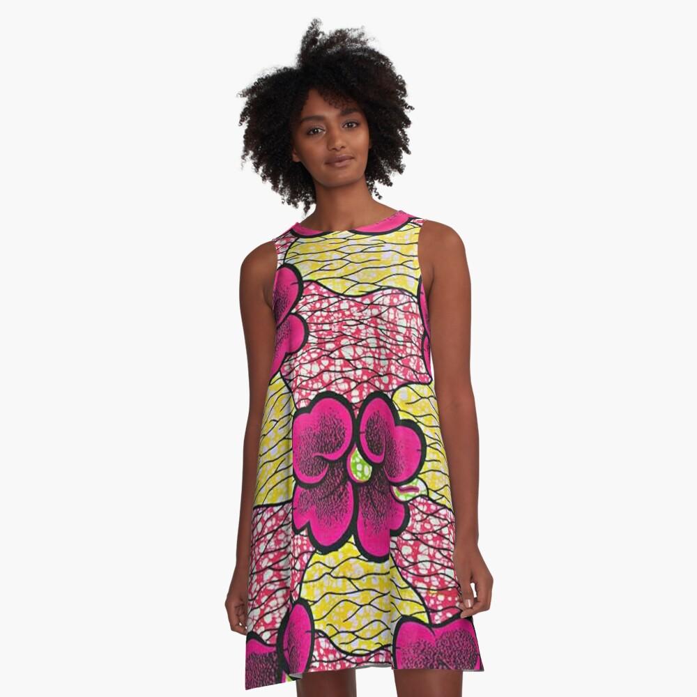 Wax flowers rose A-Line Dress Front