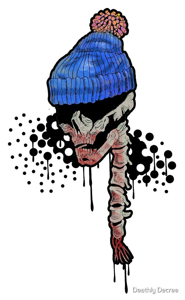 Bobble hat skull by Deathly Decree