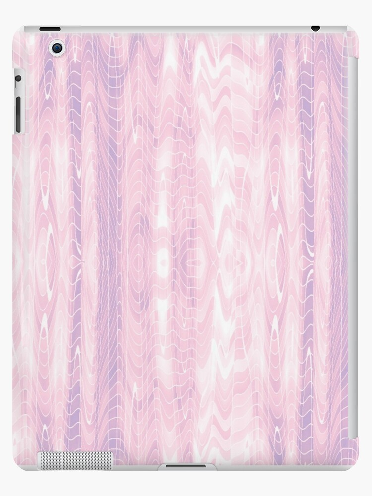 Pastel Pink & Lavender Ripple Pattern by gently used fairytale