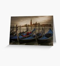 ....dark clouds over Venice.... Greeting Card