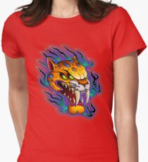 Sabre-Tooth Cat Womens Fitted T-Shirt