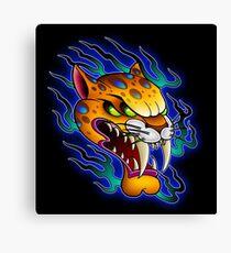 Sabre-Tooth Cat Canvas Print