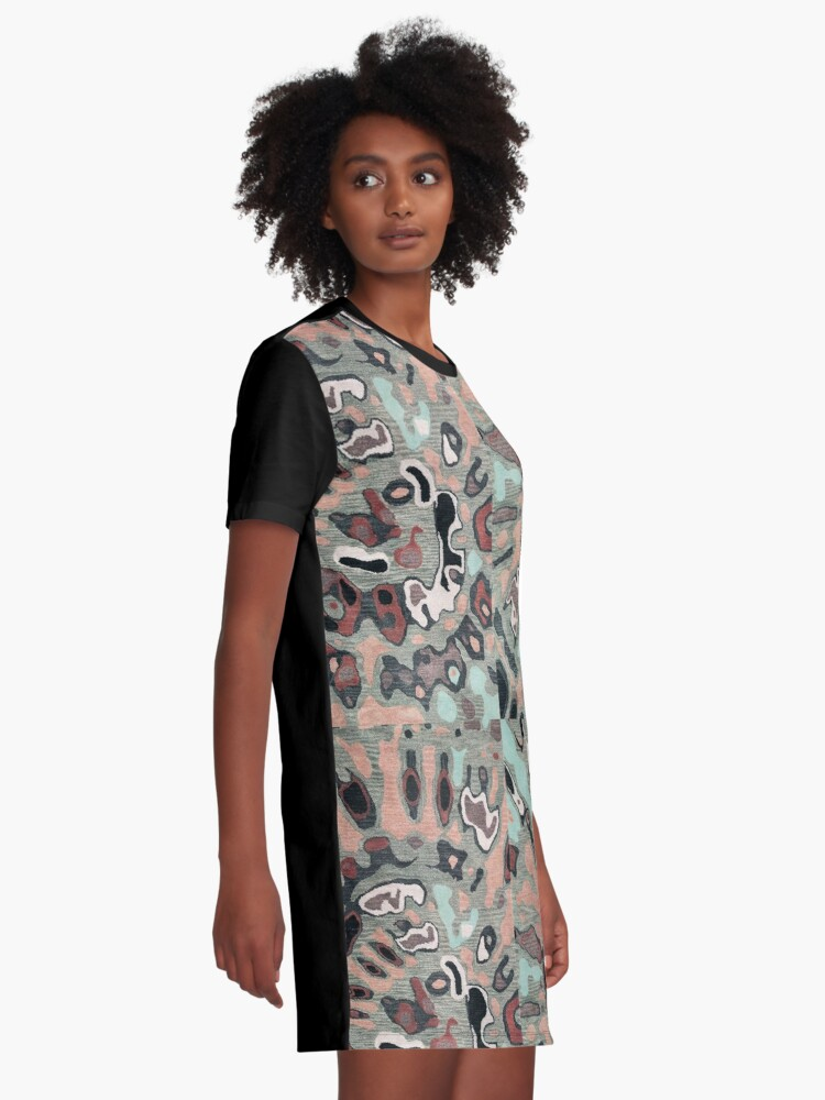 Alternate view of Art, Illustration, Modern, Contemporary, Psychedelic  Graphic T-Shirt Dress