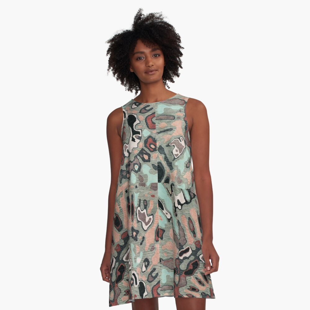 Art, Illustration, Modern, Contemporary, Psychedelic  A-Line Dress