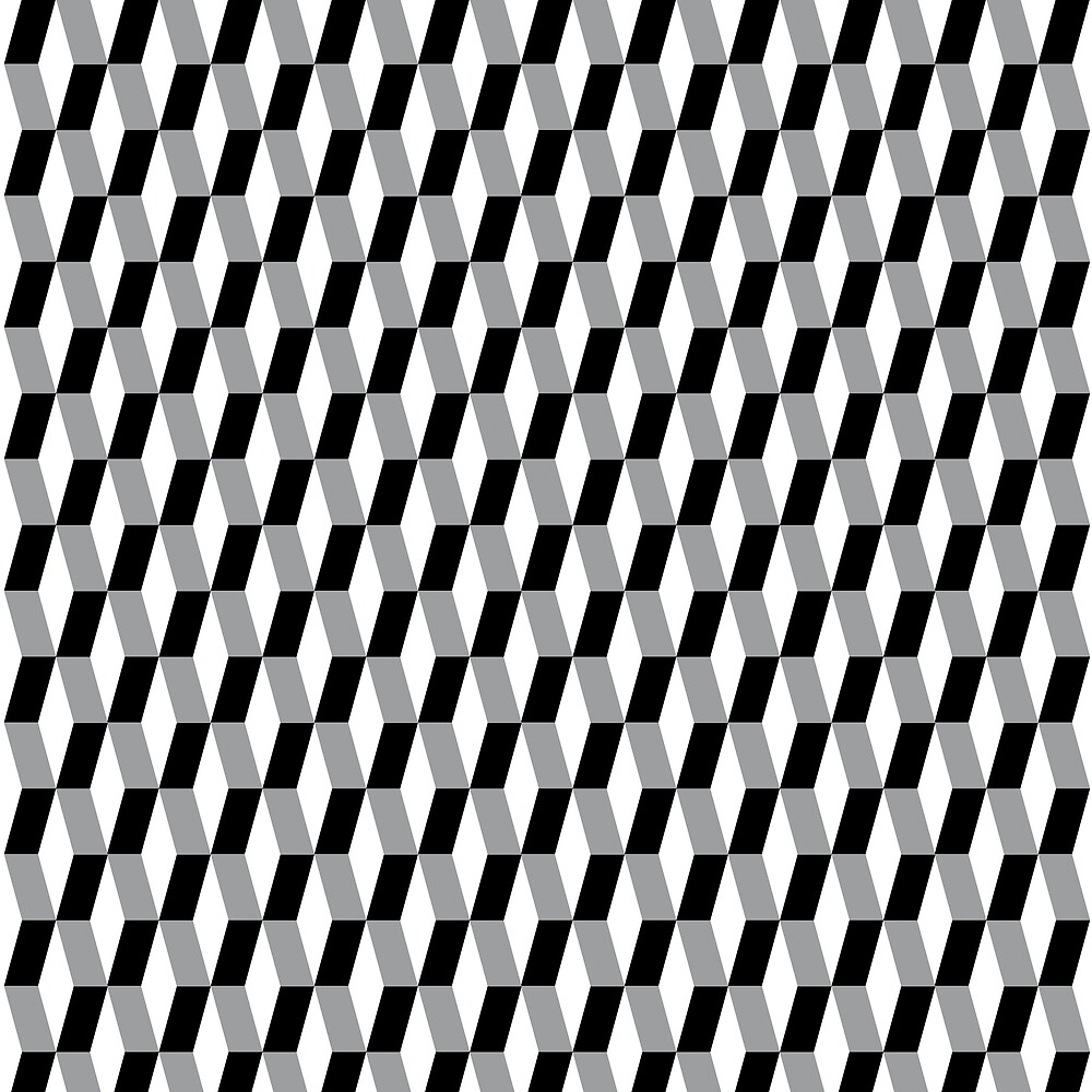 Pattern with a retro style in black and white by LuisCasimiro