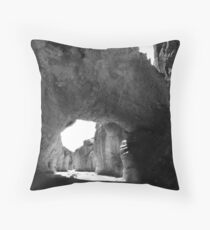 Natural Bridge, Death Valley Throw Pillow