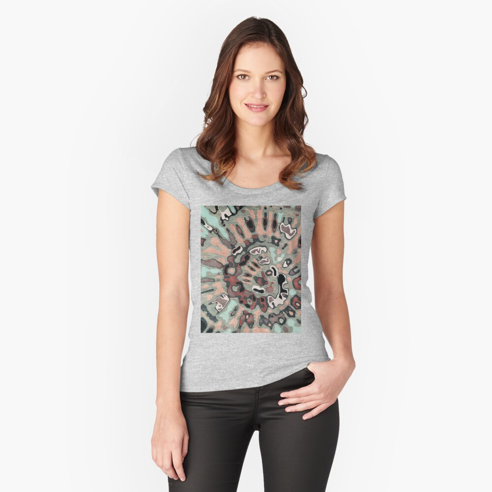 Art, Illustration, Modern, Contemporary, Psychedelic  Fitted Scoop T-Shirt
