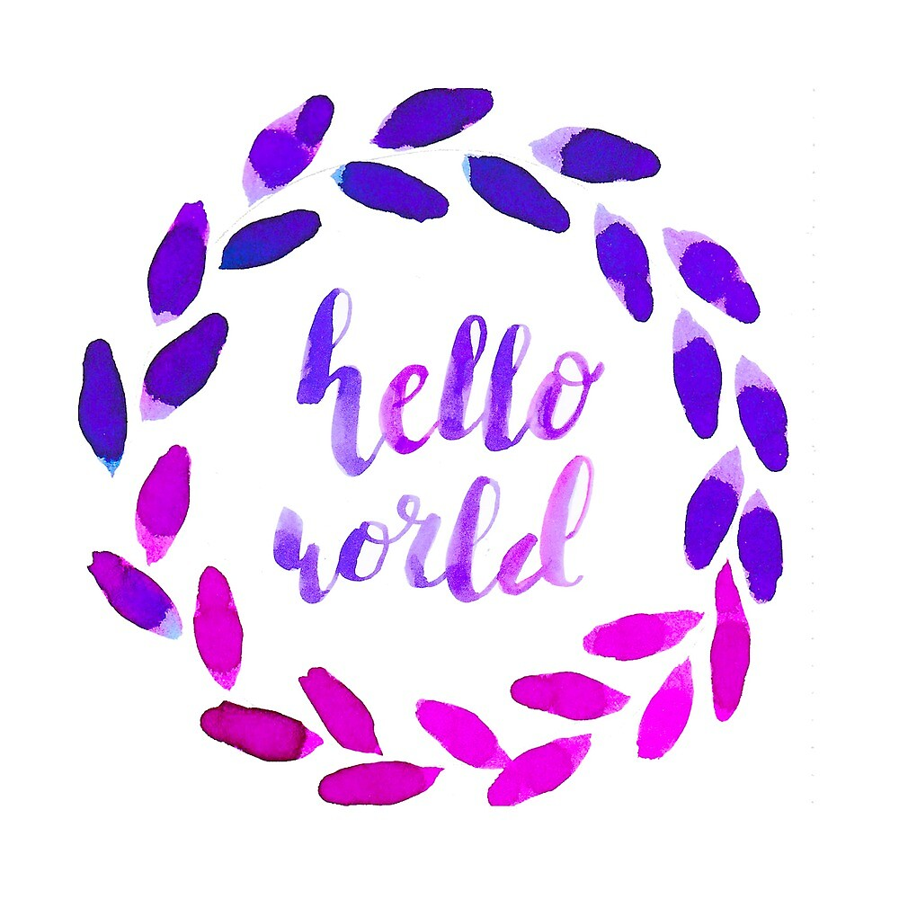 Hello world wreath by JolineCreations