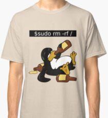 Funny Linux Command - Funny Linux shirts Linux Tux t-shirt  Classic T-Shirt