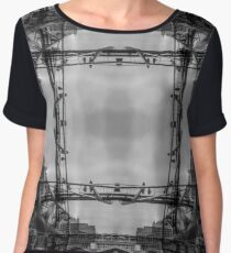 London Abstract Mirrored Architecture - Skyline Chiffon Top