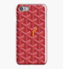 goyard,red iPhone Case/Skin