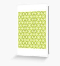 Ringelblume Kaleidoskop olivgrün Grußkarte