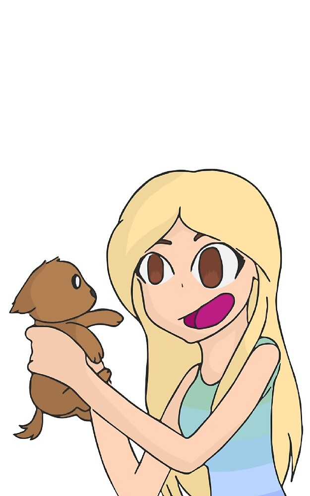 Poppy with her favorite doge by Dinogrl