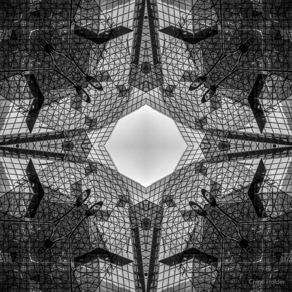 London Abstract Mirrored Architecture - Glass Building by artworkbychloe