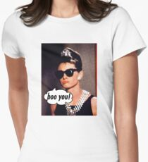 Sad Cartoon Audrey  Womens Fitted T-Shirt