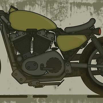 Rugged Cafe Racer Motorcycle by thinoquinn