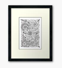 Flower garden illustration Framed Print
