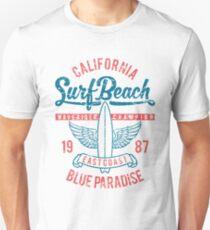 California Surf Beach - Blue Paradise  T-Shirt