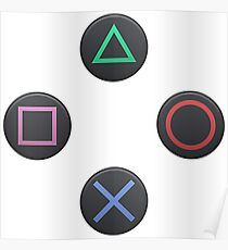 Playstation buttons Poster