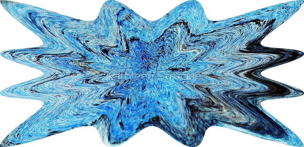 Blue Abstract Design by Kathleen Struckle