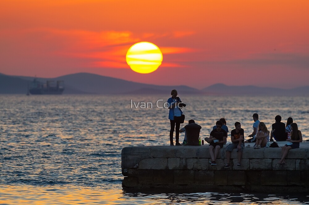 Zadar sunset by Ivan Coric