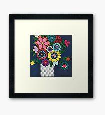 Checkered Bouquet Framed Print