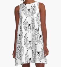 Pegaso (Black Version) A-Line Dress