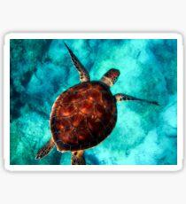 Ocean's Calling (ocean turtle) Sticker