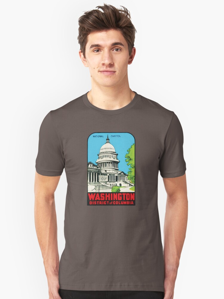 National Capitol Washinton District of Columbia 00413 Unisex T-Shirt Front