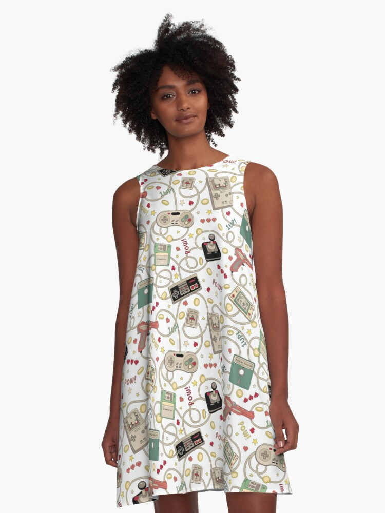 'Favourite Game White' A-Line Dress by TejaJamilla