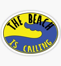 THE BEACH IS CALLING OCEAN VACATION TRAVEL CAMPER HAPPY Sticker