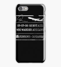 Not all who wander - Passport iPhone Case/Skin