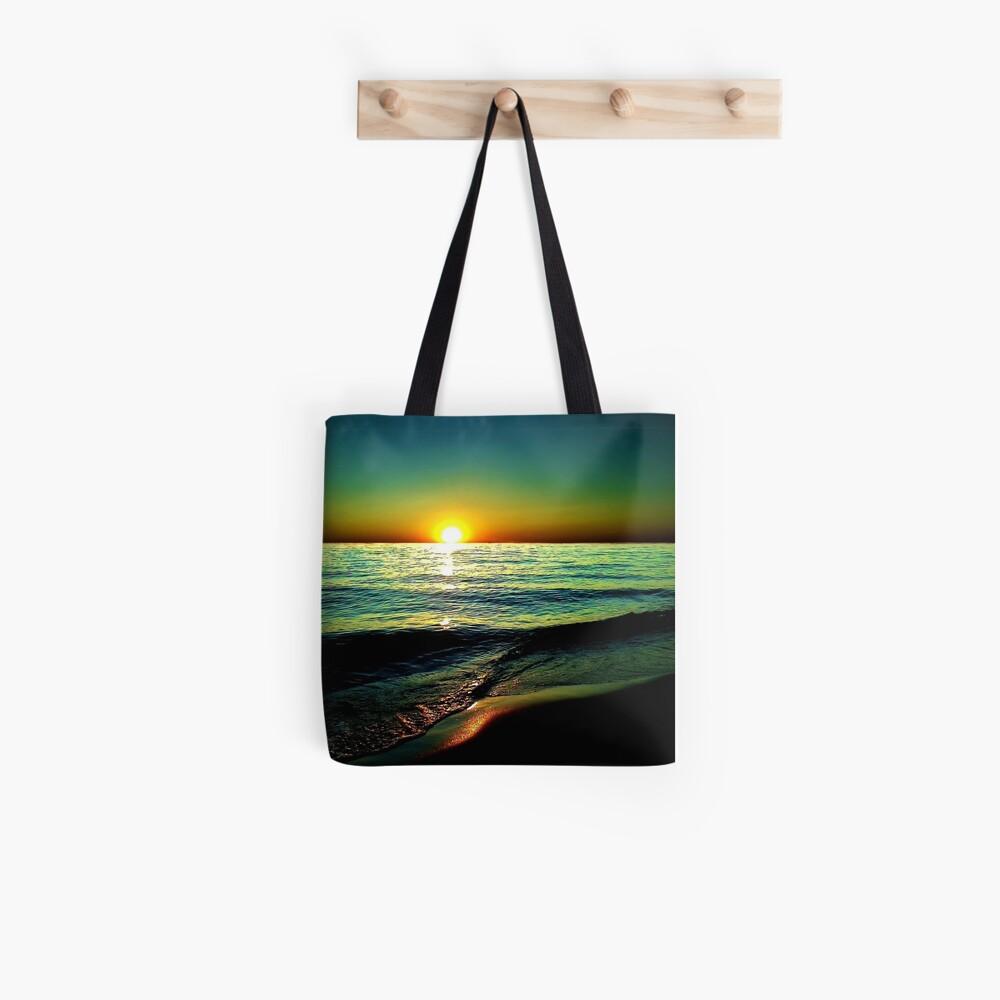 Hoher Kontrast Sonnenuntergang Stofftasche