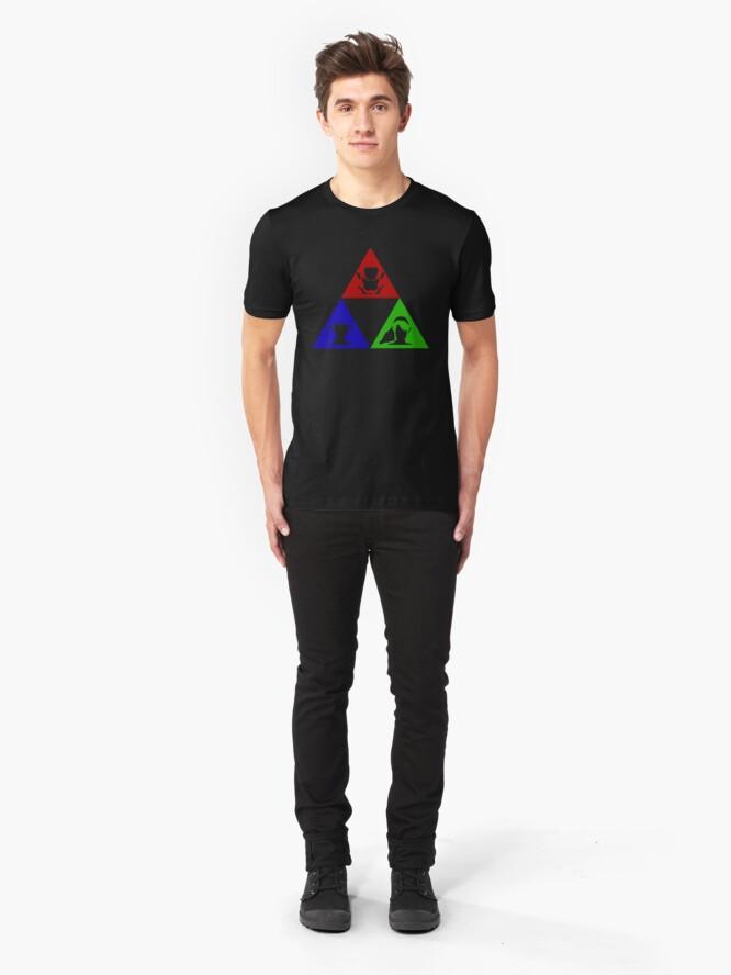 Alternative Ansicht von Macht - Weisheit - Mut Slim Fit T-Shirt
