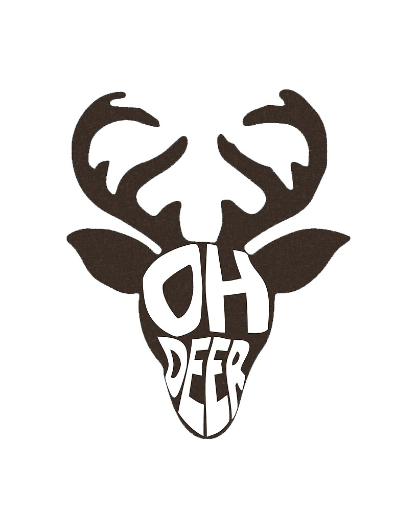 Punny deer! by Jessica Dimulias