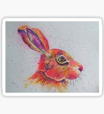 Vibrant Hare - wildlife Sticker