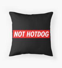 Not Hotdog Throw Pillow
