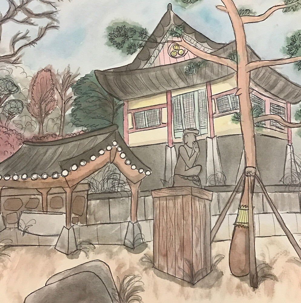 Watercolor Temple by Aliyah Jones